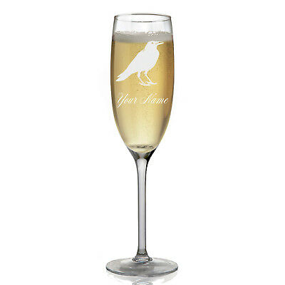 Personalized Champagne Glass - Crow