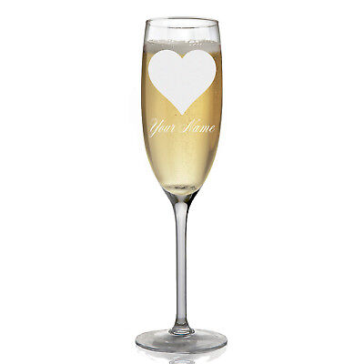 Personalized Champagne Glass - Heart