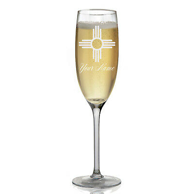 Personalized Champagne Glass - Flag of New Mexico