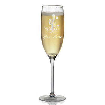 Personalized Champagne Glass - Cactus