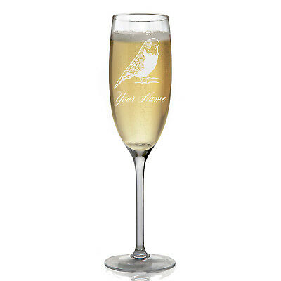 Personalized Champagne Glass - Parakeet