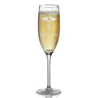 Personalized Champagne Glass - Nutritionist