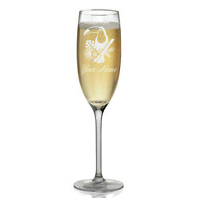 Personalized Champagne Glass - Toucan