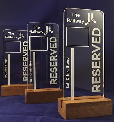 Personalised Table Reserved Sign Acrylic - Restaurant / Bar