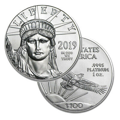 Lot of 2 Platinum 2019 American Eagle 1 oz $100 US Mint American Eagles Coins