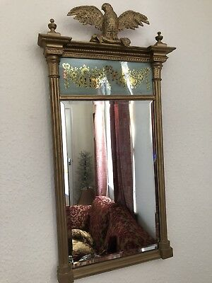 Antique 19th Century Gilt Framed Ornate Pier Mirror