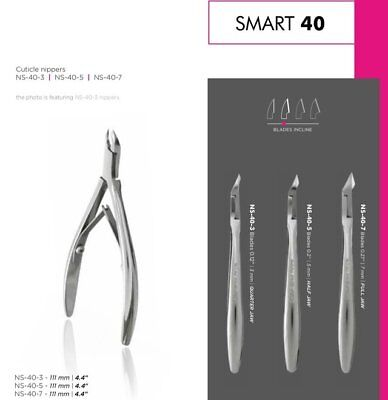 STALEKS SMART 40 Professional Cuticle Nippers Manicure Clippers Stainless Steel
