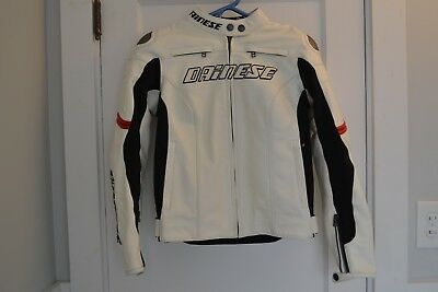 Dainese Armored Leather Motorcycle Jacket - Men's Euro 42 / XS Extra Small