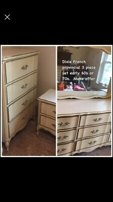 Dixie French Provincial bedroom set in great shape