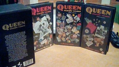 Queen Magic years 3 video vhs box set ex cond 180mins runtime
