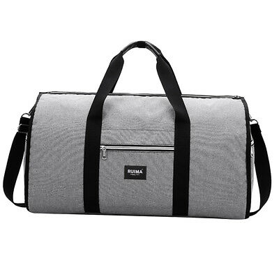 07e07cdd50 Nylon Gray Duffle Sports Gym Bag Holdall Duffel Football Team Kit Bag Travel