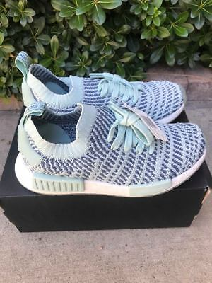 ac4b23cfc9d4d ADIDAS ORIGINALS W Womens NMD R1 Boost Black Mint Glow AQ1102 KK ...