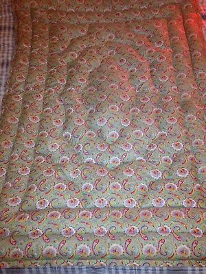 Vintage Paisley Feather Single Eiderdown Quilt Very Pretty Lovely Condition!
