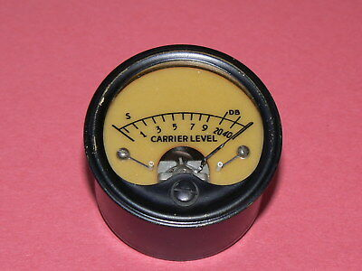 Carrier Level Meter for Vintage Hallicrafters(?) Receiver, Tested and Working
