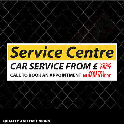 Service Centre Car Service From Call Signage Colour Sign Printed Heavy Duty 4126