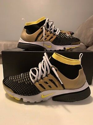 sports shoes 77b8f 0e9f2 Nike Air Presto Flyknit Ultra Black Yellow Gold 835570 007 REACT VAPORMAX  Off-Wh