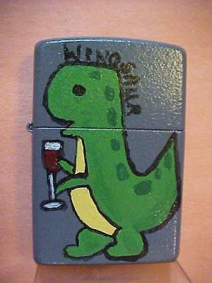 "Diane's Doodles, the Iconic Pop Art on a Zippo Lighter: ""The Winosaur"" by Diane"