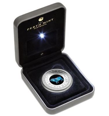 2019 YEAR OF THE PIG AUSTRALIAN OPAL LUNAR  1oz Silver Proof Coin
