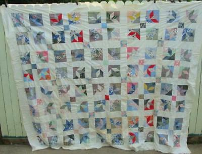 """Large Vintage Hand Sewn Quilt Top 102 x 82"""""""