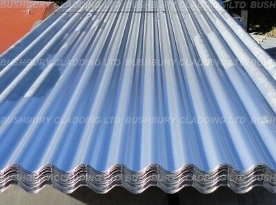 Plain Galvanised Corrugated Iron Metal Roofing Sheets  *select Length **