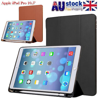 """For Apple iPad Pro 10.5"""" Case PU Slim Smart Cover With Apple Pencil Holder #AU"""
