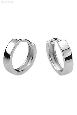 F97B Fashion Men 925 Sterling Silver Plated Hoop Earring Earrings Hoop Huggie