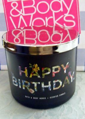 BATH BODY WORKS HOME Happy Birthday 3 WICK CANDLE NEW