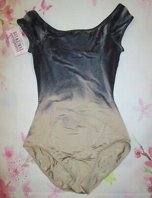NEW LA Large Adult Leotard Ballet Dance Lyrical Costume Navy Womens Watercolour
