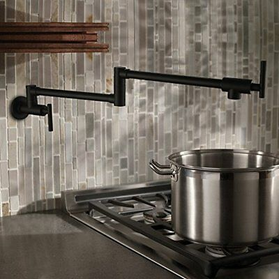 Pot Filler Kitchen Faucet Double Joint Folding Stretchable Swing Arm Wall Mount