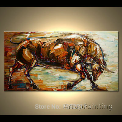 ZWOP33 ABSTRACT 100/% hand painted animal horse ART OIL PAINTING ON CANVAS