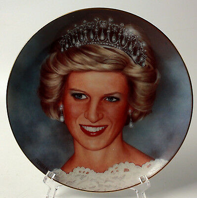 Princess Diana Wedding Collector Plate Portrait Danbury Mint 8 inch