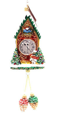 "Radko Cuckoo Clock Ornament ""pinecone Time Zone"" 1019326  Free Shipping"