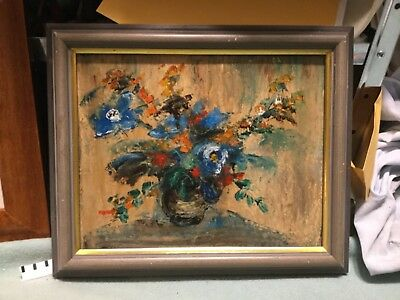 Signed floral painting