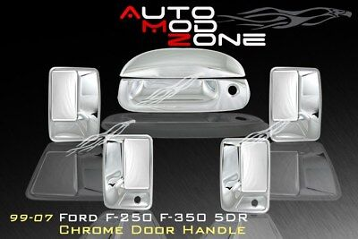 99-07 Ford F250 F350 SuperDuty Chrome 4 Door Handle+ Tailgate Cover w/ PSG KH