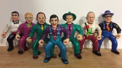 Lot Of 7 Vintage 1990 Playmates Dick Tracy Action Figures, Disney, Rare