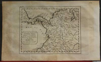 Venezuela Colombia & Panama 1771 Bellin Unusual Antique Copper Engraved Map