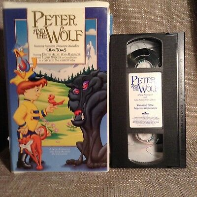 Rare VHS~ Film Classic Peter And The Wolf ~Kirstie Alley~Chuck Jones  BMG Video