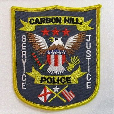 Carbon Hill, Alabama, Police Department patch - new embroidered patch