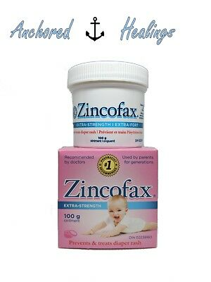 Zincofax Diaper Rash EXTRA STRENGTH Treatment Ointment Zinc Oxide Baby 100g