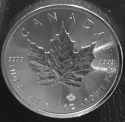 2019 Canada 1 Oz Silver Maple Leaf Bu! .9999 Fine
