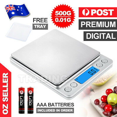 0.01-500g Kitchen Food Scale Digital LCD Electronic Weight Balance Postal Scales