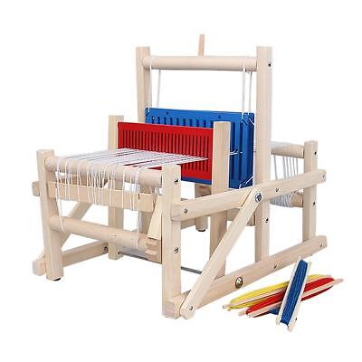 Weaving Loom Kids Toy Wooden Craft Traditional Hand Craft Toy Gift Play Knitting