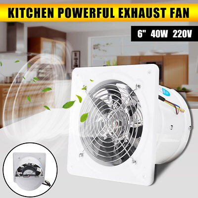 6'' Inline Duct Shutter High Speed Exhaust Fan Air Cleaning Cooling Blower