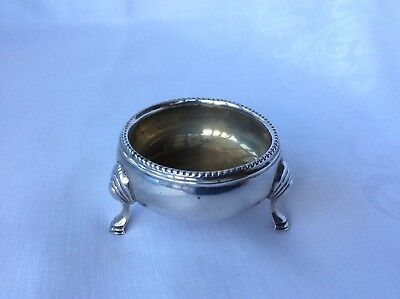 VICTORIAN EXETER SOLID SILVER SALT CELLAR - J&J Williams, 1870.