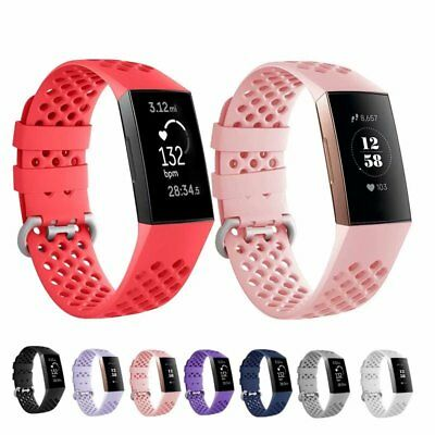 For Fitbit Charge 3 Soft Silicone Rubber Colorful Sports Band Strap Replacement