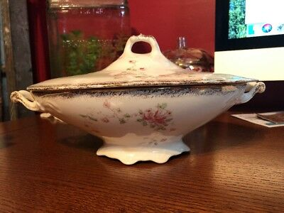 Rare Covered Serving Bowl Sevres China Company of East Liverpool Ohio Circa 1900