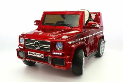 Mercedes G65 AMG 12V Kids Ride-On Car with Parental Remote | Cherry Red