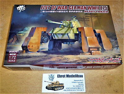WWII Fist of War German WWII E75 heavy panzer 1:72 Modelcollect UA72107 Neu