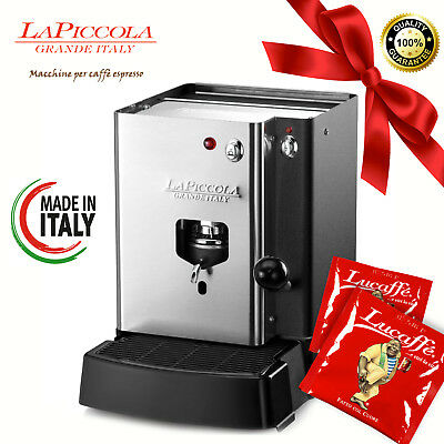 MACCHINA DA CAFFÈ LA PICCOLA SARA INOX + 20 CIALDE / INOX COFFEE MACHINE 38mm