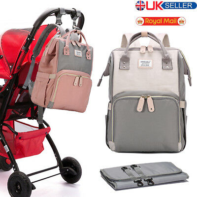 Mummy Bag Baby Diaper Nappy Changing Rucksack Multifunctional Hospital Backpack